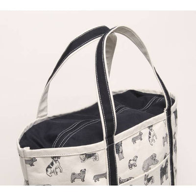 Large Zippered Doggie Print Tote by Shorebags