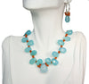 Blue Chalcedony and Carnelian Necklace and Earring Set | Whisperingtree.net