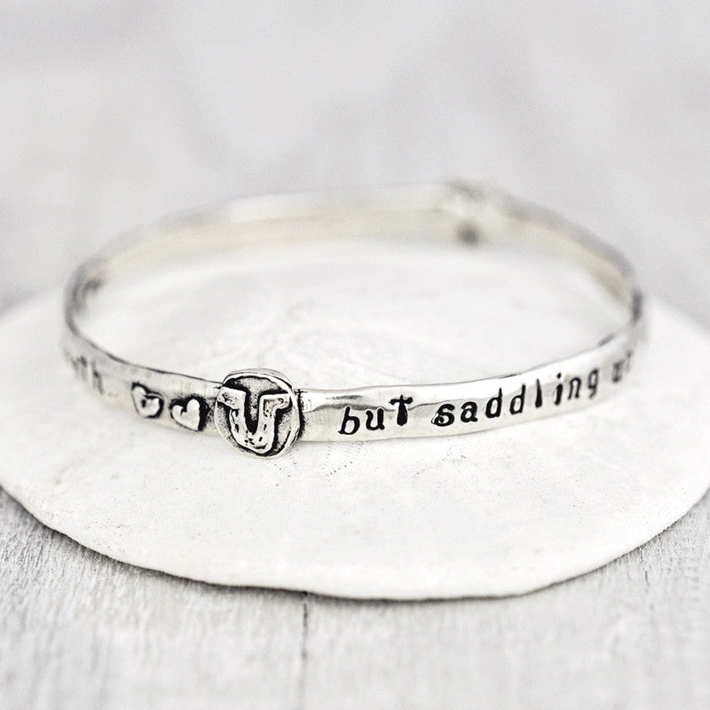 Courage Bangle Bracelet