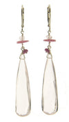 Kristin Ford Rose Quartz, Ruby, and Sapphire Earrings | Whisperingtree.net