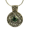 Sterling Silver Green Quartz Shield Pendant | Whisperingtree.net
