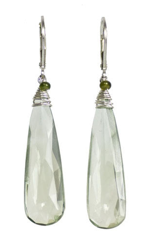 Kristin Ford Prasiolite and Idocrase Earrings | Whisperingtree.net