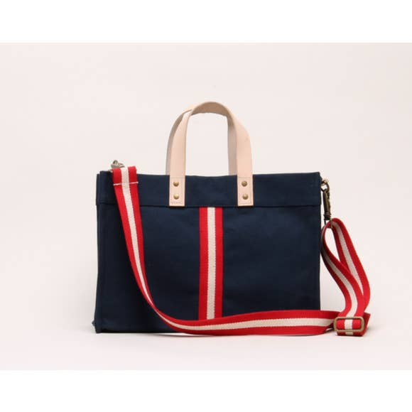 Striped Small Box Tote by Shorebags