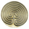 Cretan Pewter Meditation Labyrinth Left Entry