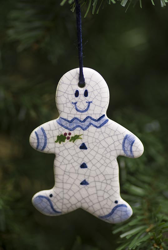 Gingerbread Man Hanging Ceramic Ornament