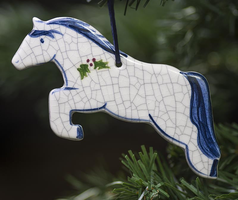 Leaping Horse Ceramic Ornament