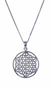 Flower of Life Sterling Silver Pendant Necklace | Whisperingtree.net