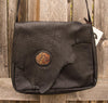 Bison Leather Handmade Bag with Handforged Tree
