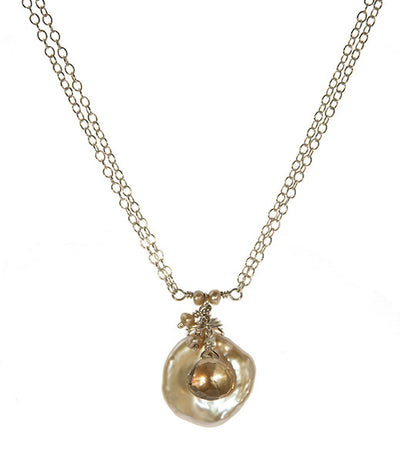 Keishi Pearl and Yellow Topaz Necklace by Kristin Ford Jewelry with Meaning | Whisperingtree.net