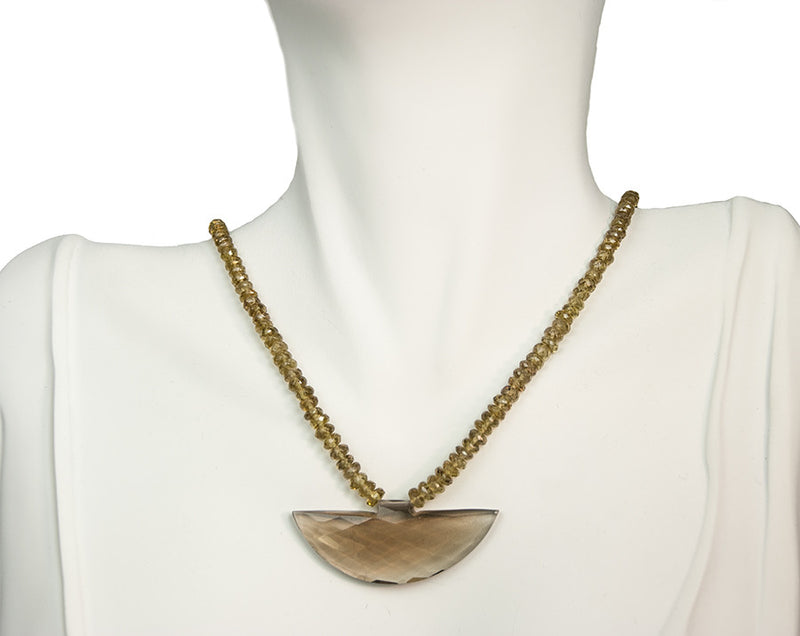 Kristin Ford Smoky Quartz and Color Change Garnet Healing Necklace One of a Kind | Whisperingtree.net