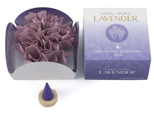Best Japanese Incense by Shoyeido Lavender Cone | Whisperingtree.net