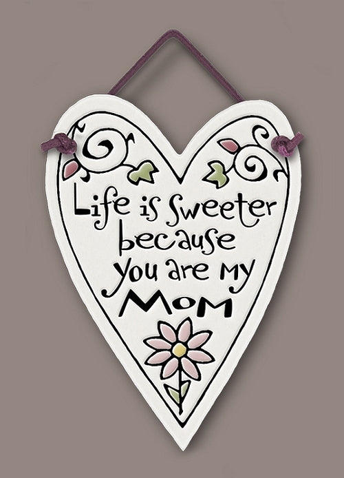 Mom Heart Wall Plaque