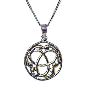Celtic Triskele Necklace in Sterling Silver