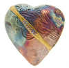 Starry Night Heart Raku Spirit Rattle | Whisperingtree.net
