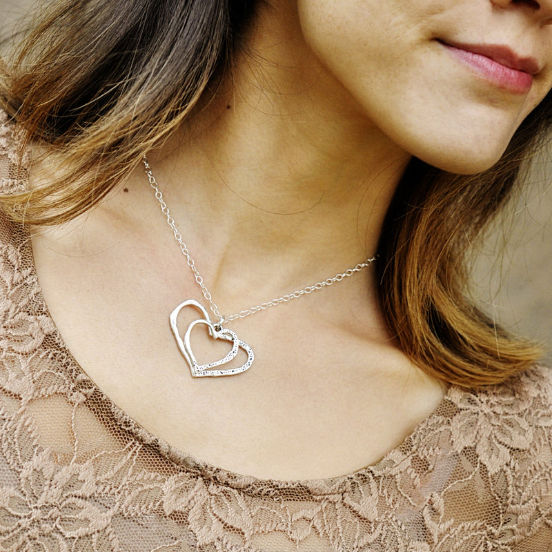Inside My Heart Double Heart Necklace