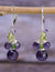 Amethyst and Peridot Sterling Silver Earrings