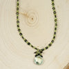Handmade Green Amethyst, Tourmaline and Peridot Necklace