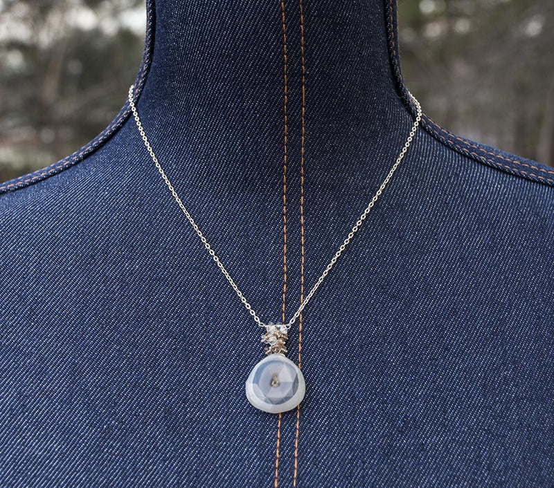 Solar Quartz and Color Change Garnet Necklace by Kristin Ford Jewelry with Meaning