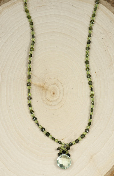 Handmade Jewelry Black Gemstone Necklace with Amethyst, Tourmaline and Peridot Necklace Handmade in USA | Whisperingtree.net