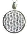 Hand Cut Flower of Life Pendant in Sterling Silver