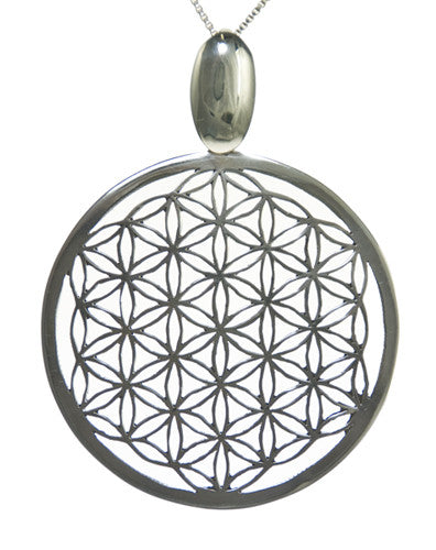Hand Cut Flower of Life Pendant