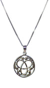 Celtic Triskele Triskellion Sterling Silver Pendant Necklace | Whisperingtree.net