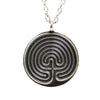 Cretan Meditation Labyrinth Pendant in Pewter | Whisperingtree.net