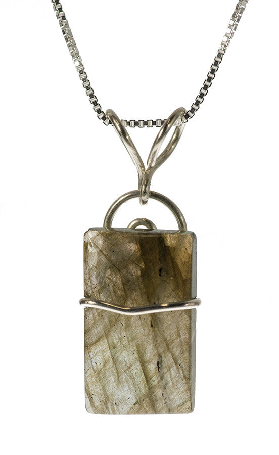 Labradorite Pendant Necklace Handmade in Sterling Silver | Whisperingtree.net
