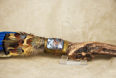 Lakota Sioux Native American Driftwood Macaw Sacred Prayer Fan | Whisperingtree.net