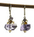 Amethyst and Citrine Handmade Earrings by Kristin Ford