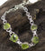 Freeform Peridot Bracelet in Sterling Silver
