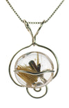 Rutilated Quartz Pendant Necklace in Sterling Silver | Whisperingtree.net
