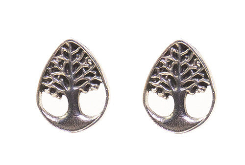 Sterling Silver Tree of Life Post Earrings
