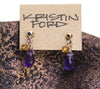Amethyst, and Citrine Post Earrings by Kristin Ford