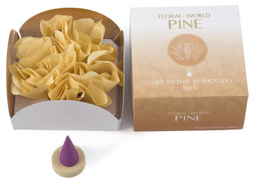 Pine Floral World Cone Japanese Incense