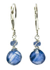 Kyanite and Sapphire Earrings by Kristin Ford | Whisperingtree.net