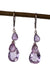 Amethyst and Topaz Handmade Gemstone Earrings by Kristin Ford