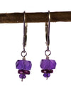Amethyst Garnet Handmade USA Kristin Ford Sterling Silver Earrings
