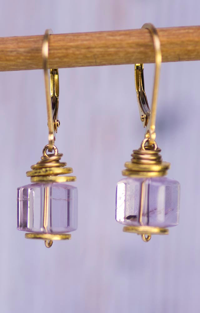 Delicate Lavender Amethyst Earrings