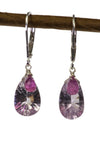 Amethyst and Ruby Handmade Gemstone Earrings by Kristin Ford