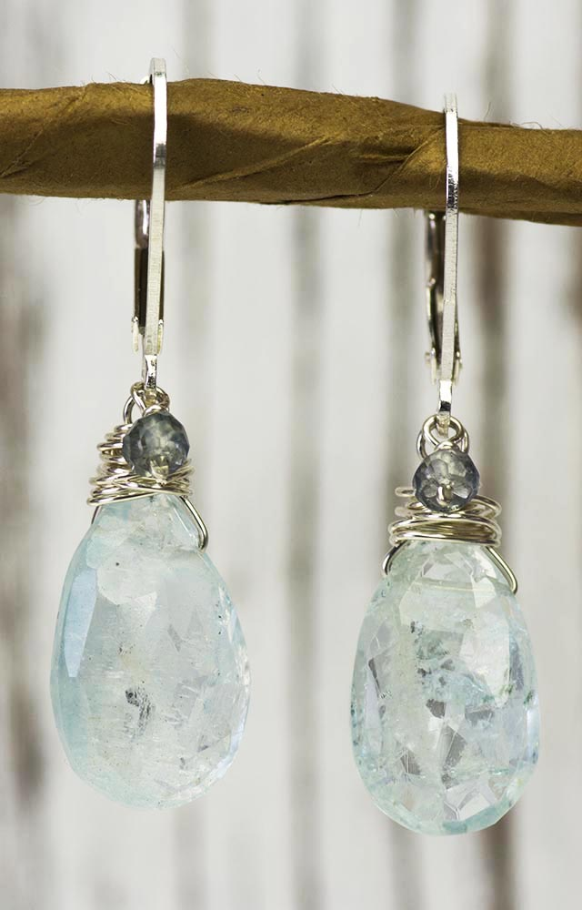 Aquamarine and Mystic Topaz Kristin Ford Earrings