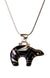 Inlay Bear Pendant in Sterling Silver