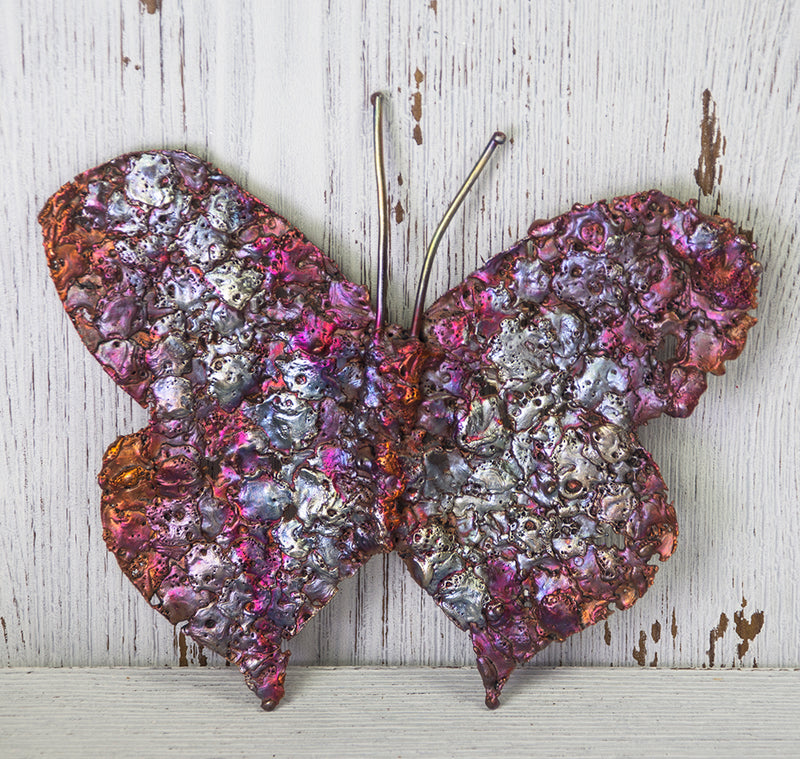 Large Transformative Copper Butterfly Art Sculpture