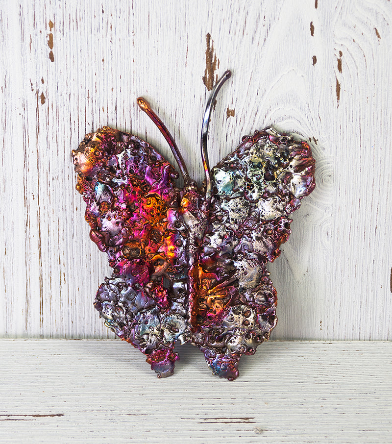 Transformative Copper Butterfly Art Sculpture