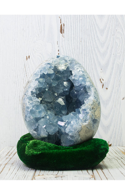 Angelic Celestite Stone Egg