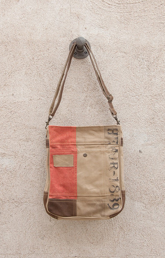 "Vintage Look ""1889"" Crossbody Purse by Chloe and Lex"