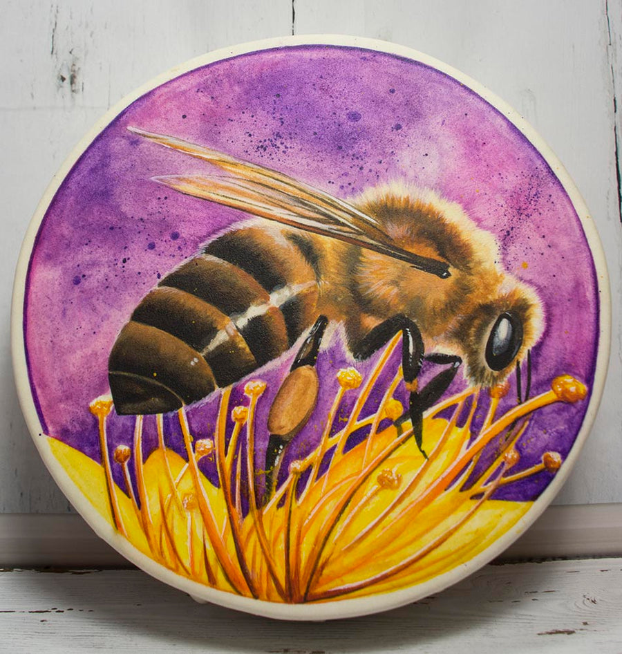 Handmade Honeybee Totem Animal Spirit Drum 15 Inch