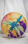 Handmade Dragonfly Totem Animal Spirit Drum 15 Inch