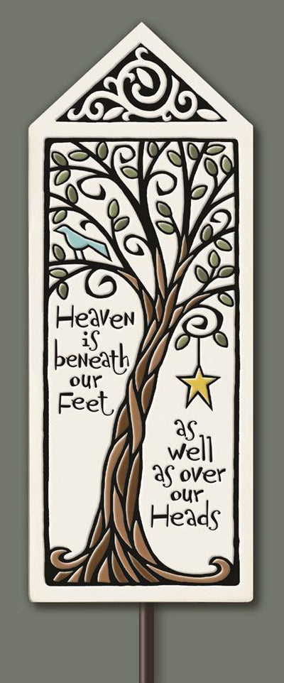 Heaven is Beneath Our Feet... Garden Tile (includes stake)
