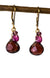 Garnet and Ruby Handmade Gemstone Earrings by Kristin Ford